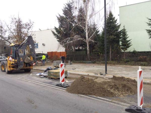 Budowa przystanku przy Rolanda / fot. targowek.info