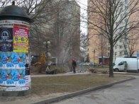Prace przy kanalizacji do nowej toalety / fot. targowek.info