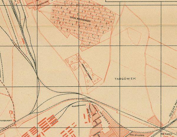 Fragment mapy Warszawy wydanej w 1913 roku przez Towarzystwo Doraźnej Pomocy Lekarskie / ze zbiorów Trasbus