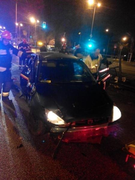Wypadek na Radzymińskiej / fot. Straż Pożarna