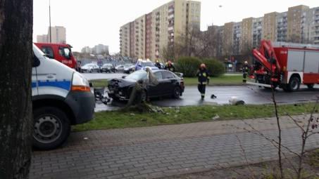 Wypadek na ul. Kondratowicza / fot. czytelnik targowek.info