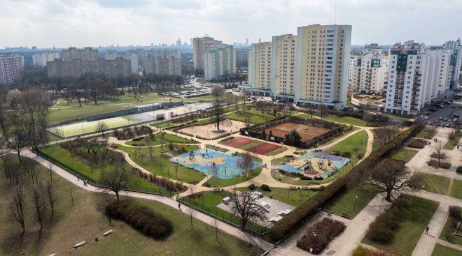 Plac zabaw w Parku Bródnowskim