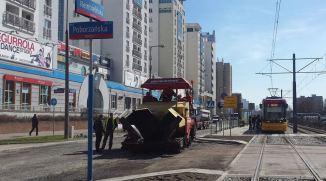 Ulica jest zamknięta, ale tramwaje jeżdżą normalnie