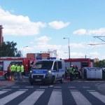 Znowu wypadek na skrzyżowaniu Bazyliańskiej, Rembielińskiej i Kondratowicza