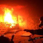 Pożar w bloku na Wysockiego