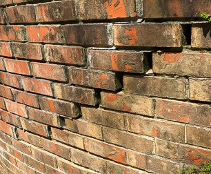 cracked brick foundation settlement