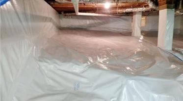 Madison, NC - Dirt Floor Crawl Space Encapsulated after