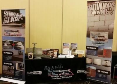 Tar Heel booth at North Carolina Licensed Home Inspector Association