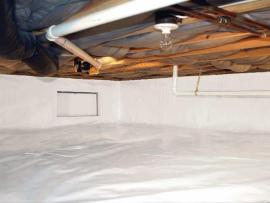 crawl space encapsulation system