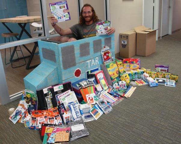 Hundreds of school supplies will go to Forsyth County children thanks to our team's generosity