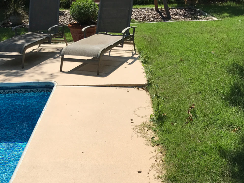 uneven pool deck concrete