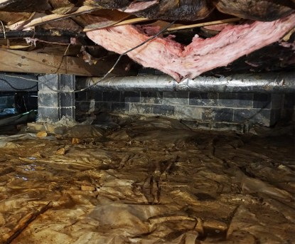 damaged fiberglass insulation