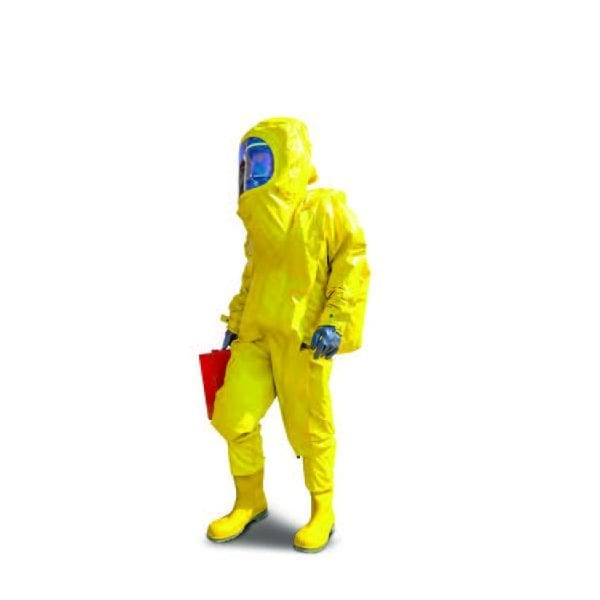 High level decontamination suit