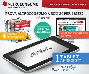 Tablet in omaggio