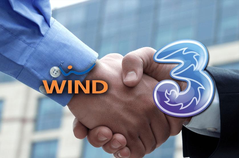 Risultati immagini per Fusione Wind e Tre Itali