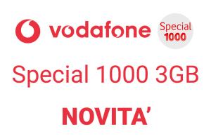 Arriva la special 1000 3gb di vodafone