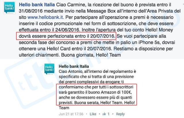 hello bank amazon 100€
