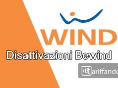 wind bewind disattivazione