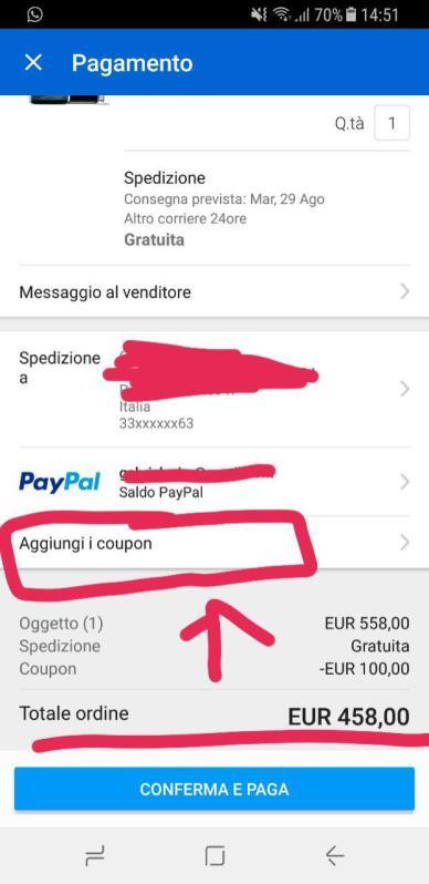 sconto ebay