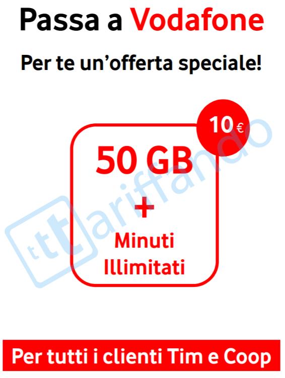 vodafone special 50gb minuti settembre