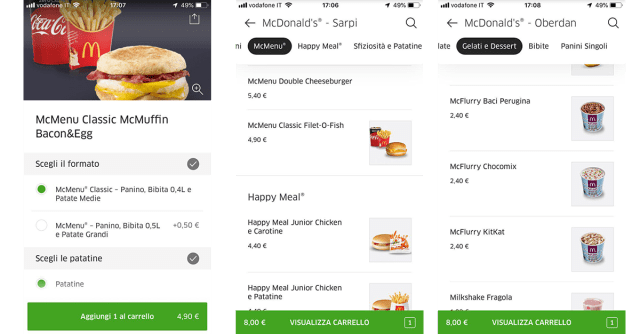 uber eats mcdonald gratis