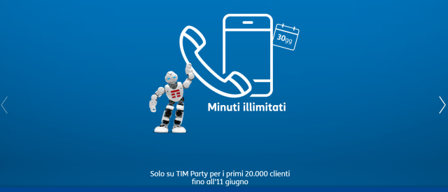 tim party minuti illimitati