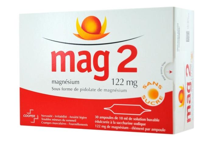 mag 2 magnesium 30 ampoules irritabilite nervosite cooper