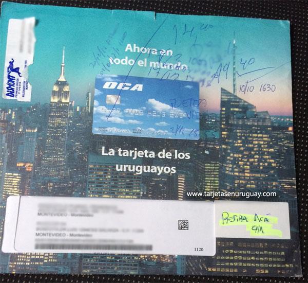 Nueva tarjeta OCA internacional