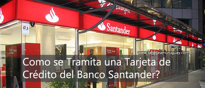 Tramitar tarjeta banco Santander