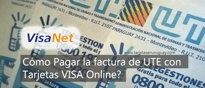 Como Pagar UTE con Tarjeta VISA Online