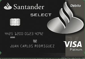 Tarjeta débito Santander SELECT