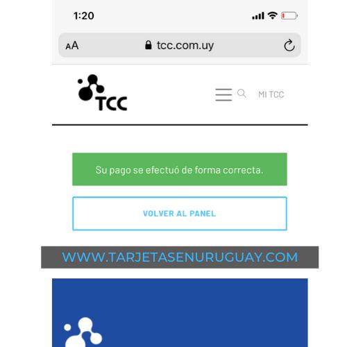 Pago TCC online con Visa