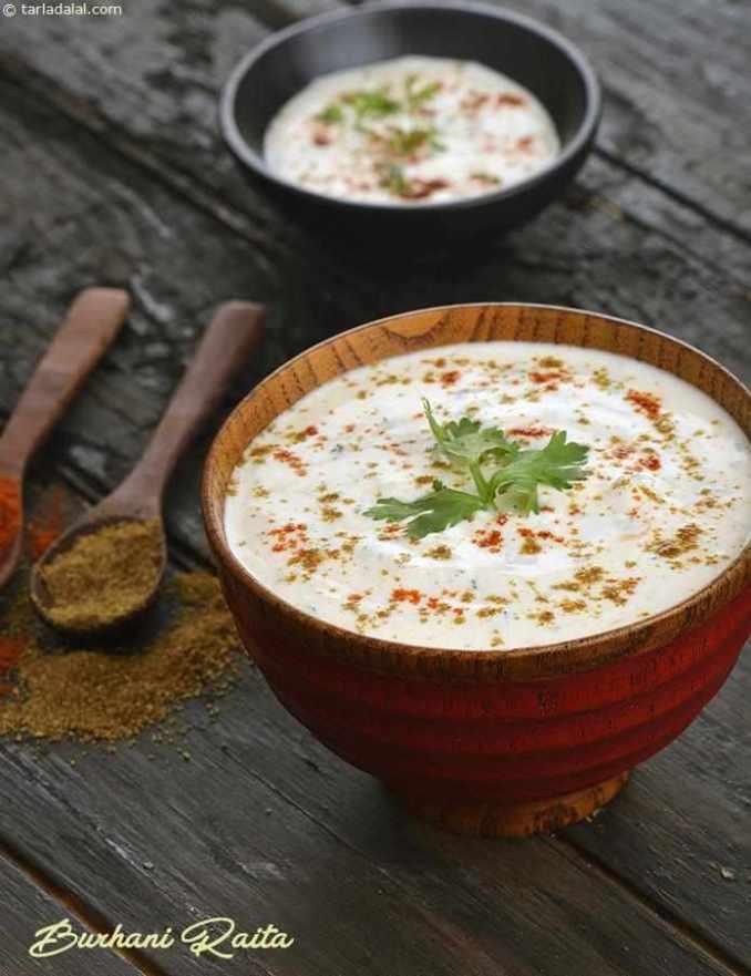 Burhani Raita, Hyderabadi Masala Curd Raita recipe, Burani