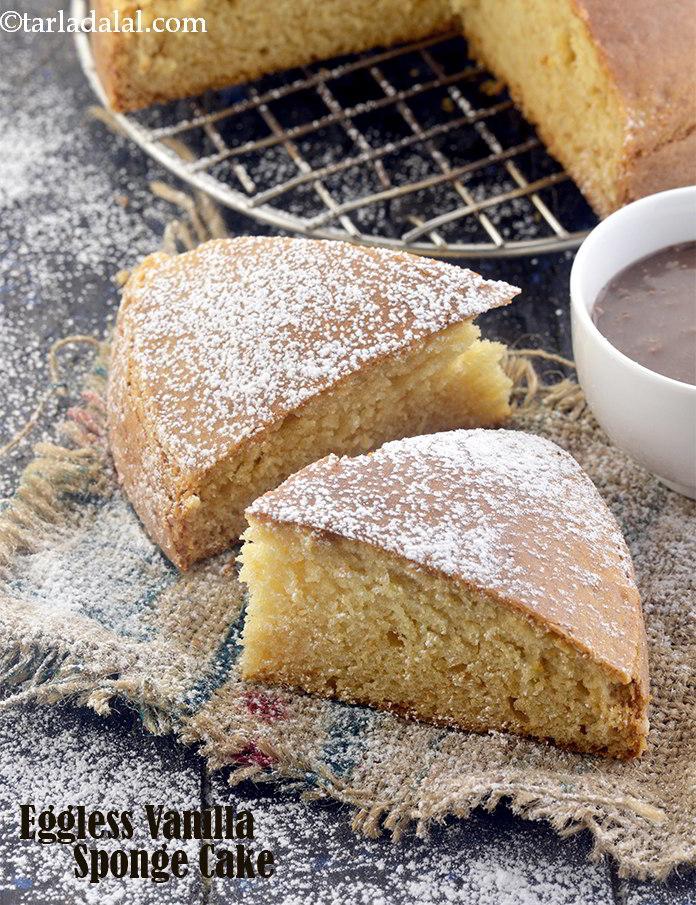 Eggless Vanilla Sponge Cake Eggless Desserts Recipe