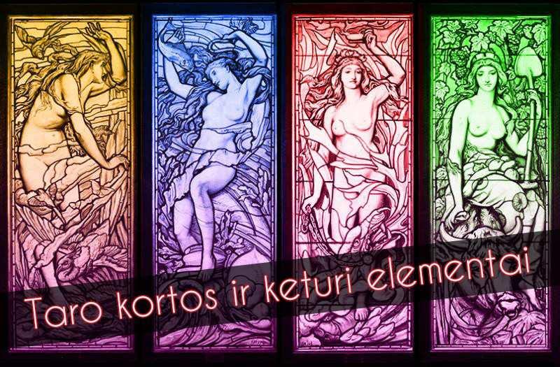 Taro kortos ir keturi elementai