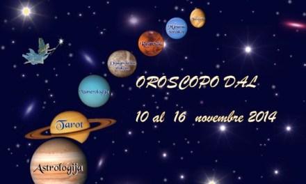 Oroscopo dal 10 al 16 novembre 2014