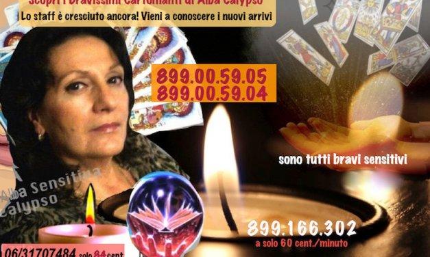 899.00.59.05 e 899.00.59.04 e trovi oltre 30 bravissimi Cartomanti in linea