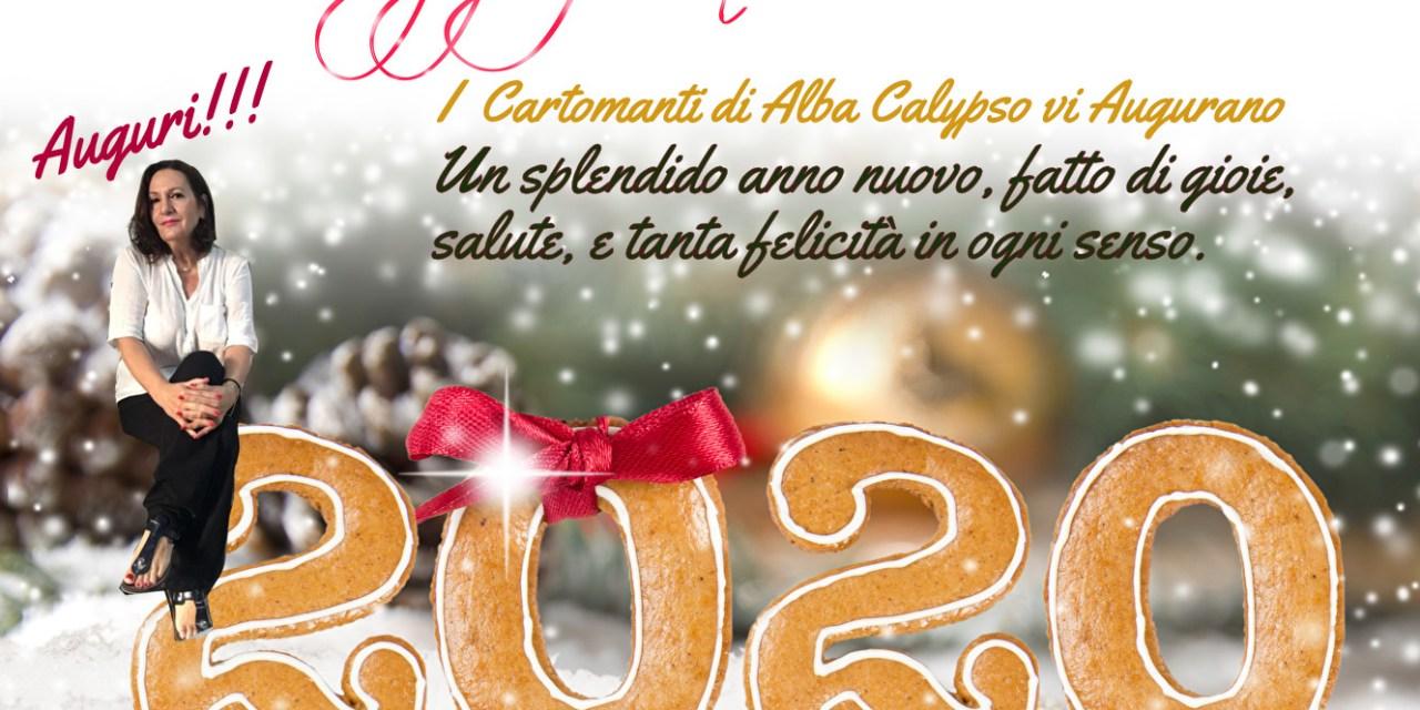 Felice 2020 a tutti i nostri Fans e Clienti, dai Cartomanti di CalypsoLine
