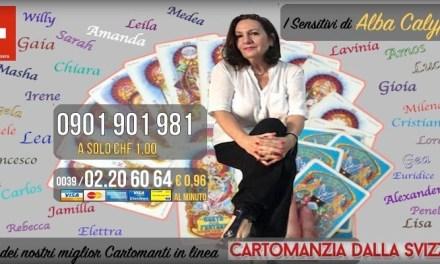 Chiama dalla Svizzera i Migliori Cartomanti Italiani. 0901 901 981