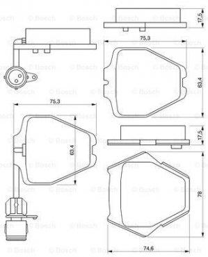 Brake pads for AUDI A8 (4D2, 4D8), 03.94-12.02