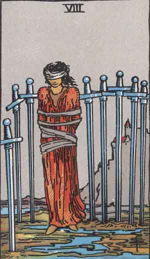 Eight of Swords Tarot card