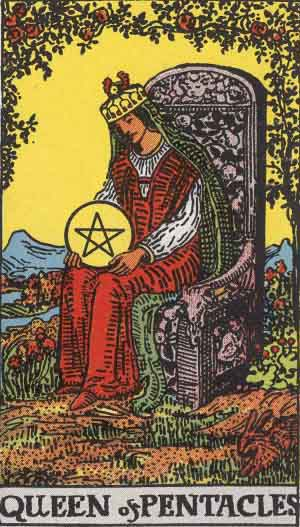 Queen of Pentacles Tarot card