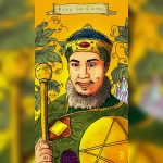 Emilie's Kindred Spirits Tarot, king of coins, Dominick Guerriero