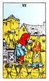 Tarot Minor Arcana card: Six of Cups