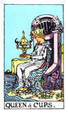 Tarot Minor Arcana card: Queen of Cups