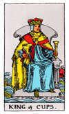 Tarot Minor Arcana card: King of Cups