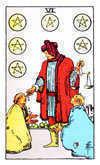 Tarot Minor Arcana card: Six of Pentacles