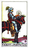 Tarot Minor Arcana card: Knight of Pentacles
