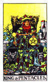 Tarot Minor Arcana card: King of Pentacles