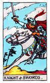 Tarot Minor Arcana card: Knight of Swords